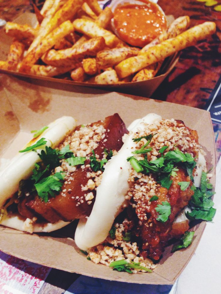 BaoHaus, NYC #porkbelly #friedchicken #bao #tarofries