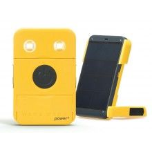 The new and improved successful Wakawakalight Power+ solar charger and lamp, including Buy-1-Give-1 and new colour option white!