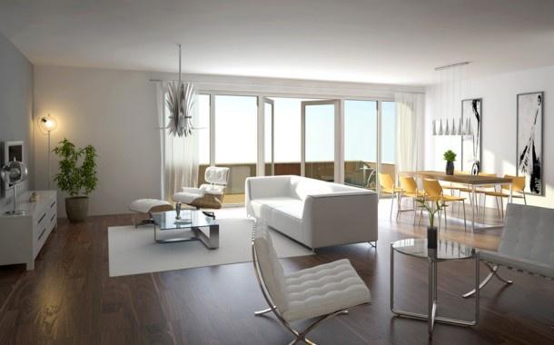 Strak/ modern interieur