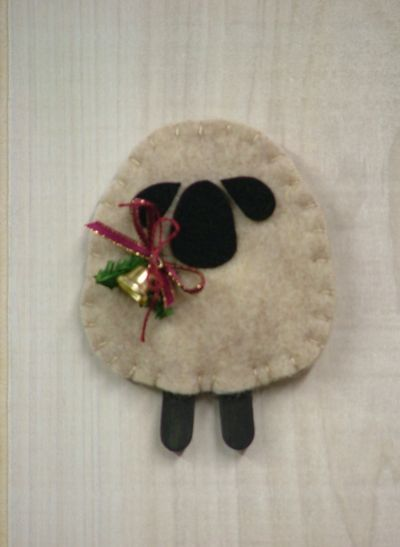 "♥ ""O Christmas Tree II: Woolly Lamb Ornament"". SKU: O 939. Measures 3 3/4"" high. By Countryside Patterns. ♥"