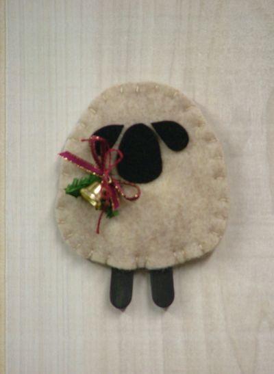 sweet wooly lamb ornament