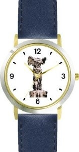 Cheap Victory Of Samothrace Nike Statue-Greek-Roman Sculpture - WATCHBUDDY® DELUXE TWO-TONE THEME WATCH - Arabic Numbers - Blue  The best bargains - http://greatcompareshop.com/cheap-victory-of-samothrace-nike-statue-greek-roman-sculpture-watchbuddy-deluxe-two-tone-theme-watch-arabic-numbers-blue-the-best-bargains