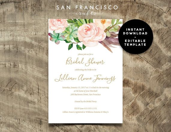 14 best Invitation templates images on Pinterest Invitation - bridal shower invitation templates download