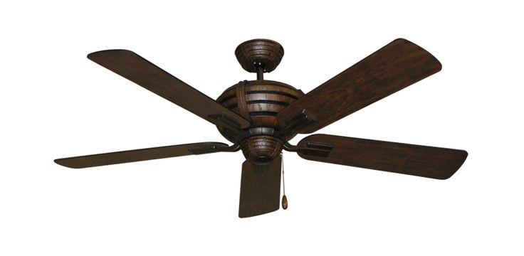 "Madeira Oil Rubbed Bronze Ceiling Fan with 52"" Distressed Walnut Finish | Dan's Fan City"