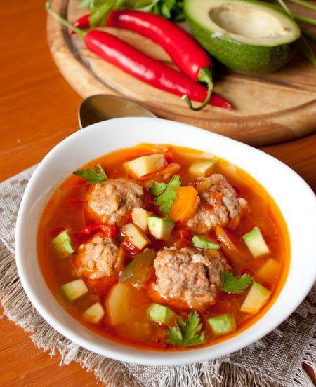 Острый суп с фрикадельками - вкусные проверенные рецепты, подбор рецептов по продуктам, консультации шеф-повара, пошаговые фото, списки покупок на VkusnyBlog.Ru
