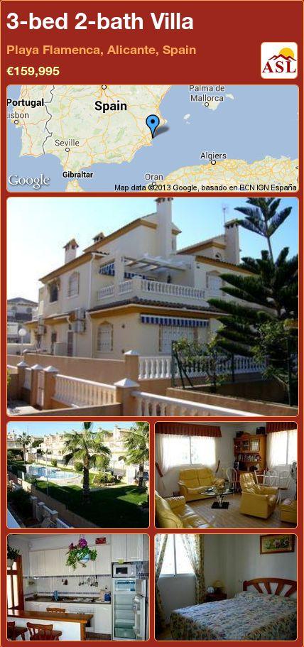 3-bed 2-bath Villa in Playa Flamenca, Alicante, Spain ►€159,995 #PropertyForSaleInSpain