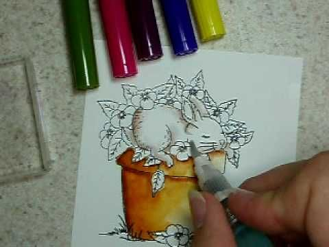 Tombow coloring Tutorial by: Trudy.  good shadowing tips/color suggestions. several techniques used.