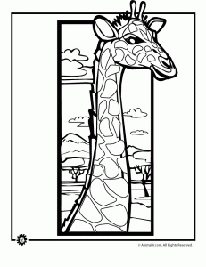 giraffe coloring page 231x300 Giraffe Coloring Pages