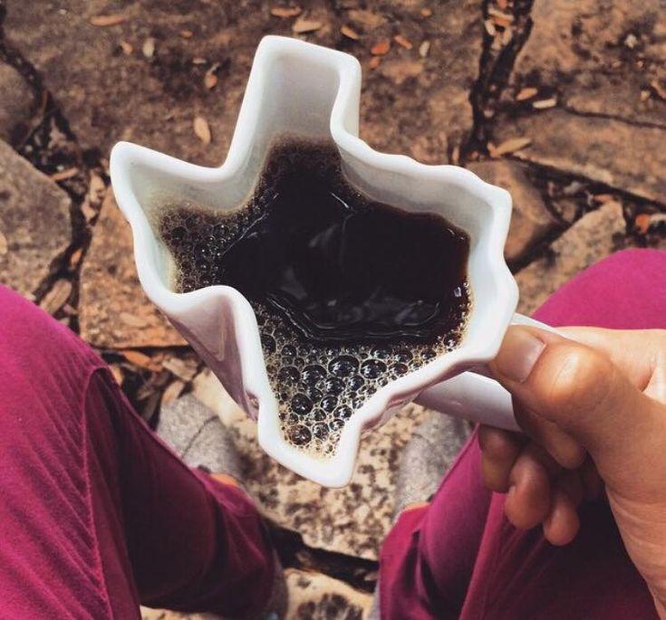 texas shaped mug. i need this.