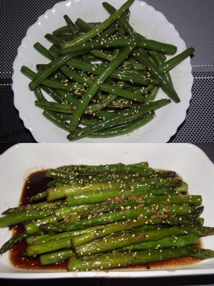 My daughter's Korean recipes Sweet & Spicy Green Beans or Asparagus
