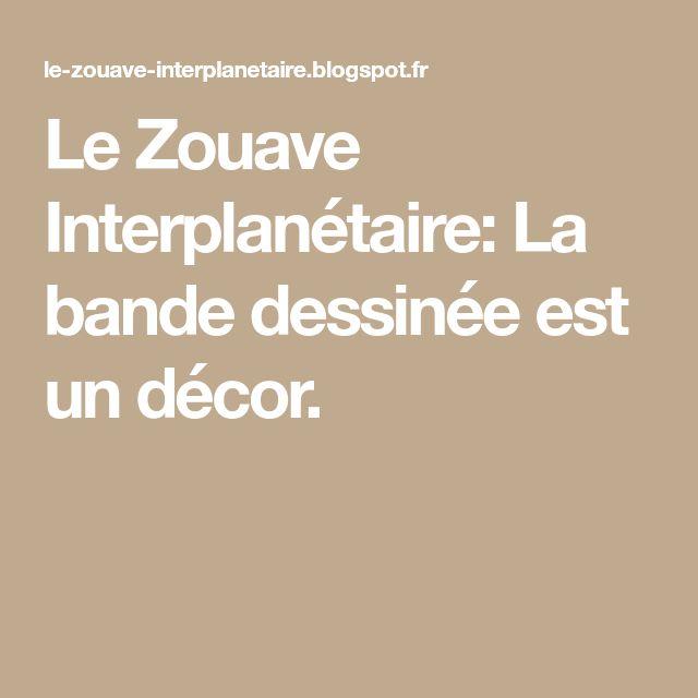Le Zouave Interplanétaire: La bande dessinée est un décor.