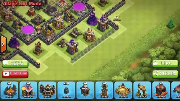 Clash of Clans Town Hall 9 TH9   Trophy Base   Town Hall 11 Update 2015