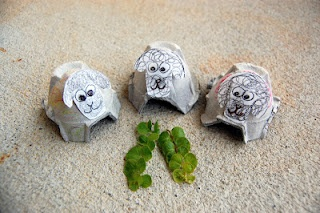 Egg Carton Sheep, Luke 15: 1-7