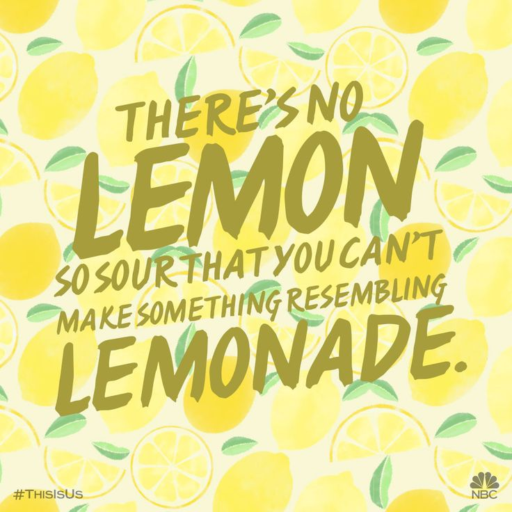 Show those lemons what you're made of.