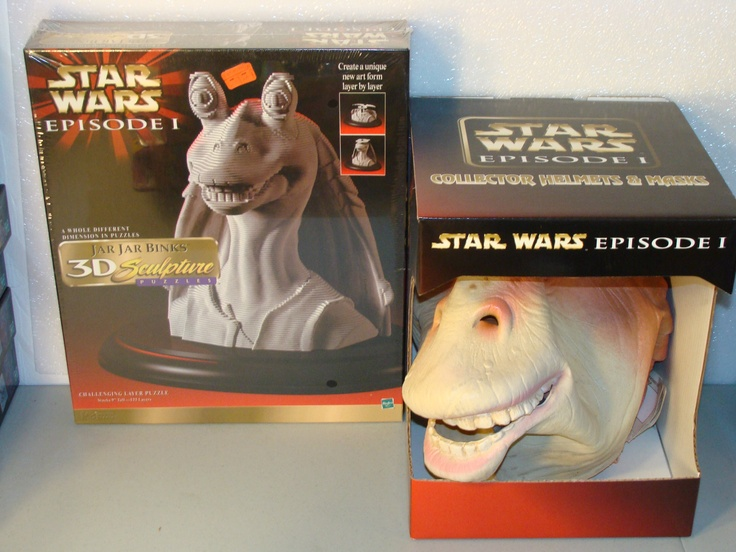 LOT OF 2 STAR WARS EPISODE I JAR JAR BINKS 3D SCULPTURE PUZZLE & JAR JAR MASK MB US $29.99 http://www.ebay.com/itm/LOT-OF-2-STAR-WARS-EPISODE-I-JAR-JAR-BINKS-3D-SCULPTURE-PUZZLE-JAR-JAR-MASK-MB-/271131996045?pt=Puzzles_US=item3f20b9ef8d