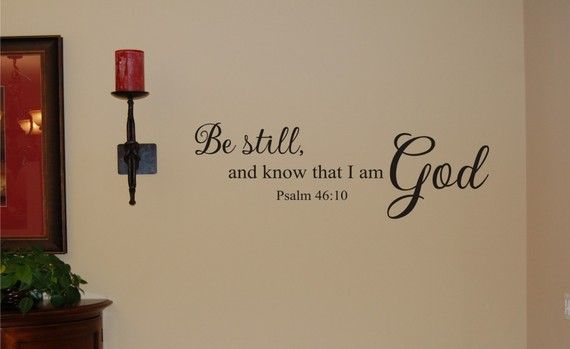 Scripture vinyl for wall...LOVE this!