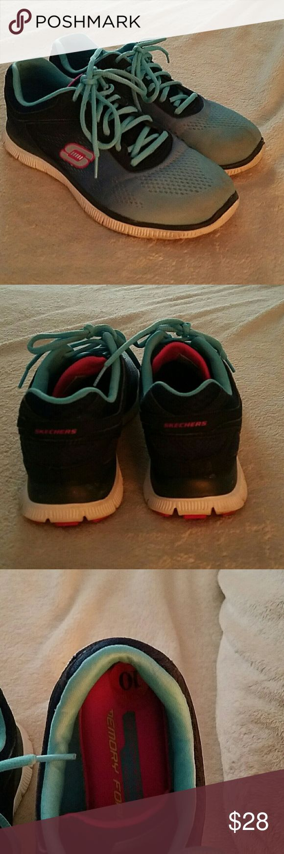Skechers memory foam sneakers Size 10 memory foam . Still in good condition worn for work. Skechers Shoes Sneakers