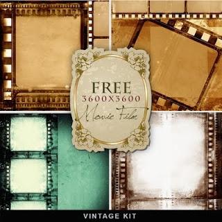 Far Far Hill: Freebies Old Film Background
