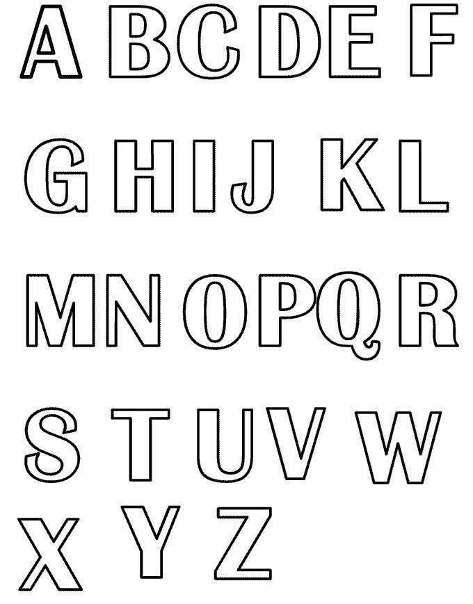 Formas De Letras Para Imprimir - AZ Dibujos para colorear