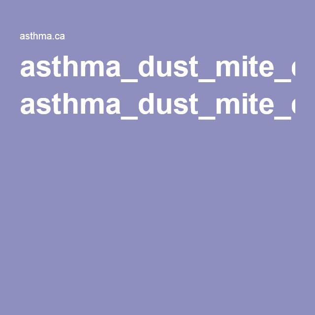 dust mite allergy info