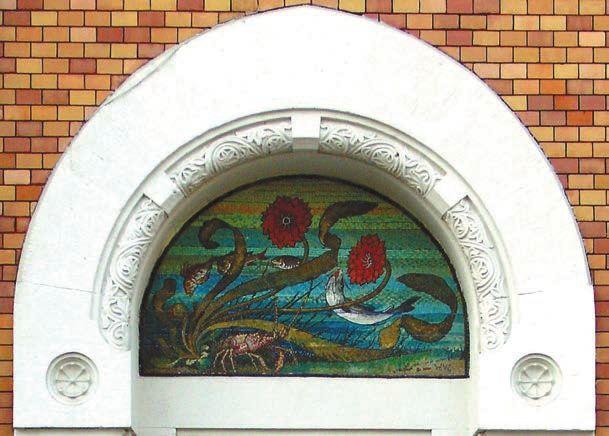 Дом Листа, мозаичное панно. Архитектор Лев Кекушев.