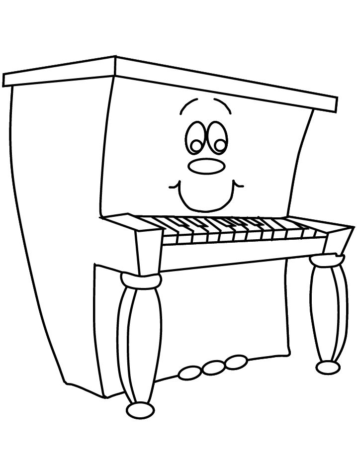 This Site Has All Kinds Of Music Instrument Coloring Pages