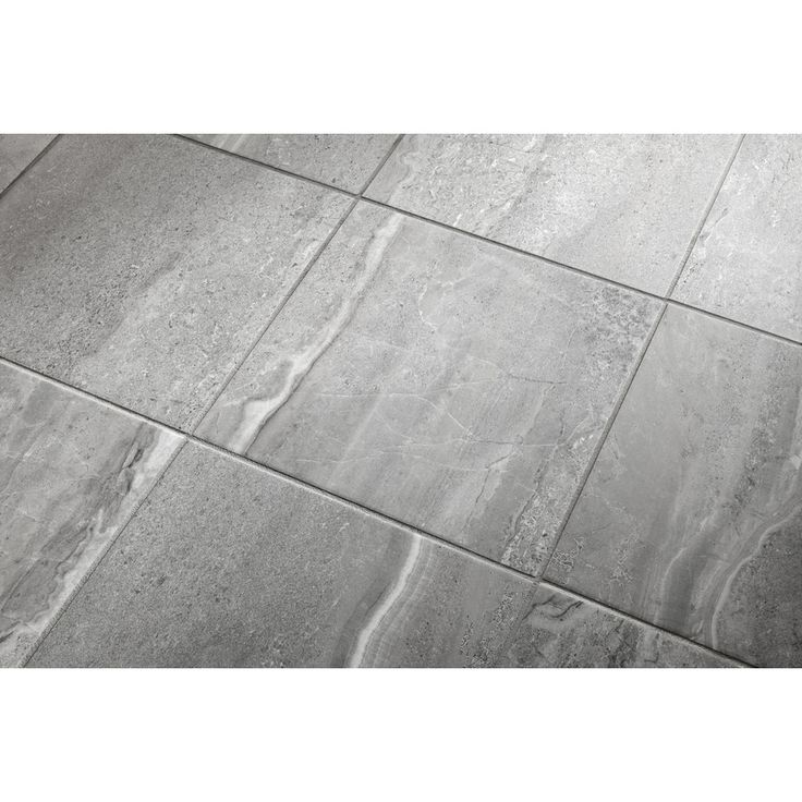 Shop style selections 8 pack skyros gray glazed porcelain indoor outdoor floor tile common 18 - Lowes floor tiles porcelain ...