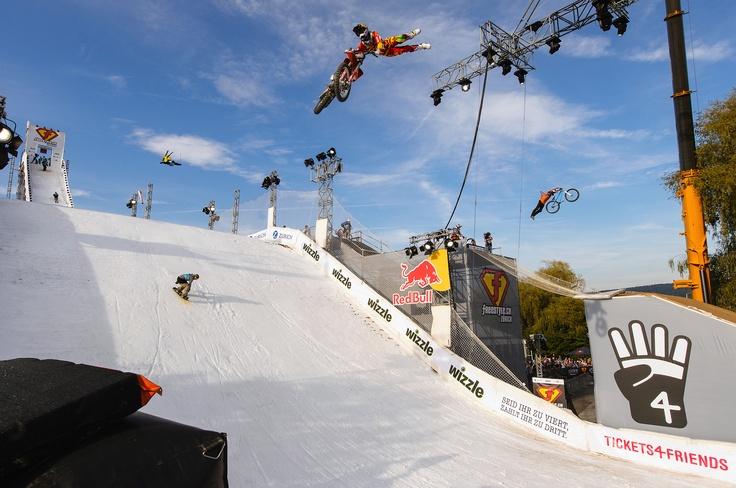 Das Freestyle.ch in Zürich einer der besten Snowboard-contests.