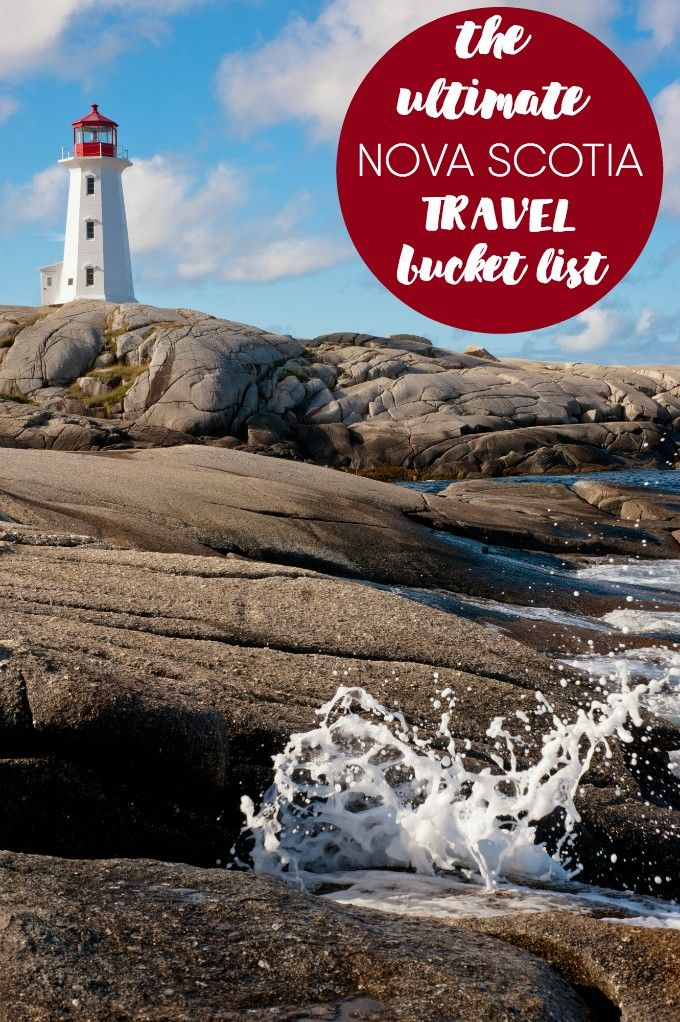 The Ultimate Nova Scotia Travel Bucket List - One of Canada's most beautiful provinces is yours to explore! This travel bucket list has 10 must-see spots for your visit.