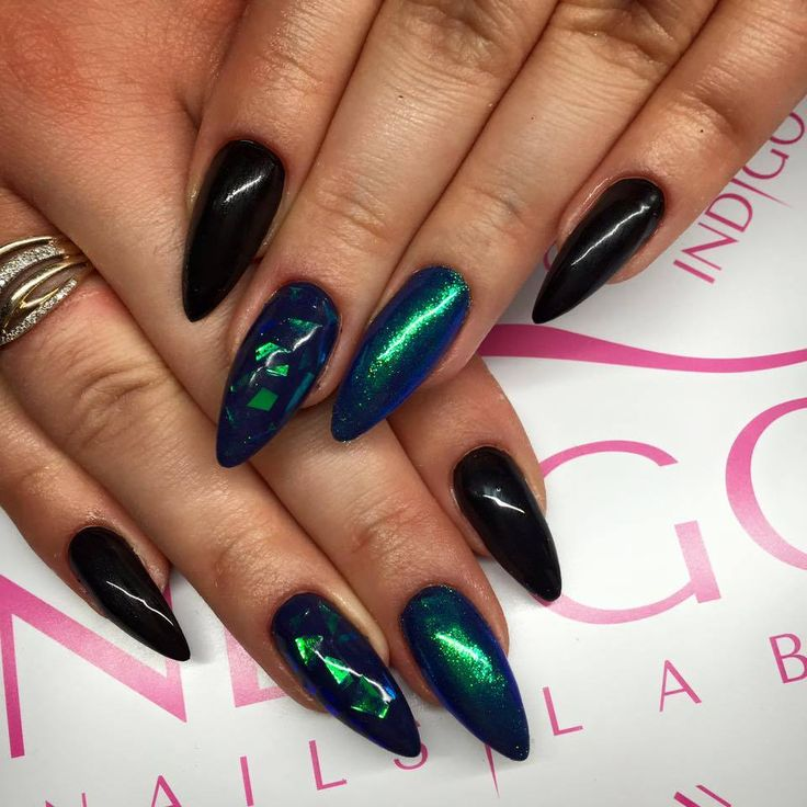 Paint Gel + Gel Brush Sky Bar + Emerald Magic Effect + Mirror Effect Foil by…