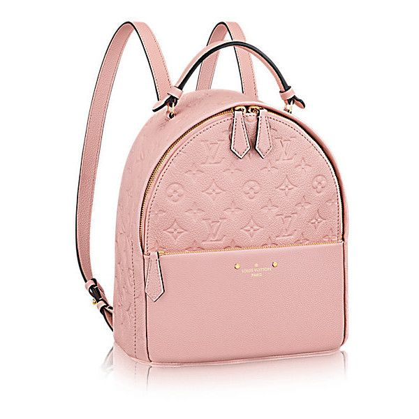 Sorbonne Backpack ($2,530) ❤ liked on Polyvore featuring bags, backpacks, backpack, louis vuitton, day pack backpack, travel backpack, daypack bag, pink backpack and urban bag