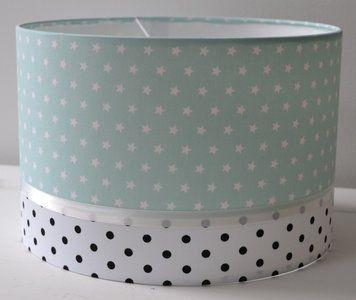 Mint Lamp Sterretjes & Dots black and white,