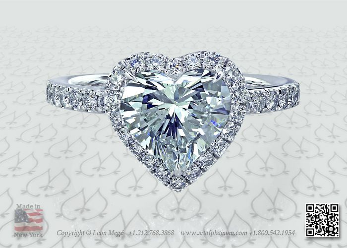 gorgeous heart shaped diamond with micropave halo ❤