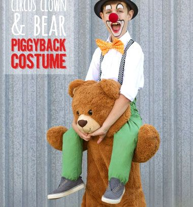 DIY Circus clown and bear piggyback costume (sewing tutorial) // Cirkuszi bohóc a maci hátán jelmez (varrási útmutató) // Mindy - craft tutorial collection // #crafts #DIY #craftTutorial #tutorial