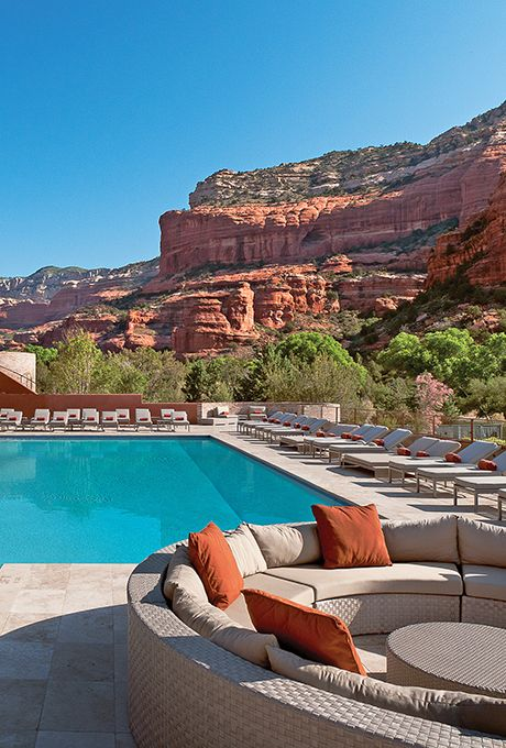Brides.com: Beyond Vegas: 15 Alternative Bachelorette Destinations Hit a Destination Spa in SedonaThis desert town in Arizona is known for its red rocks, sybaritic resorts, and numerous energy vortexes, making it a no-brainer for a stress-zapping getaway. Mii Amo has a rep as one of the best destination spas in the U.S. and spoils girl groups with everything from hydrotherapy to Reiki