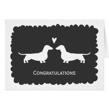 Dachshunds Wedding Congratulations Card - click to get yours right now!