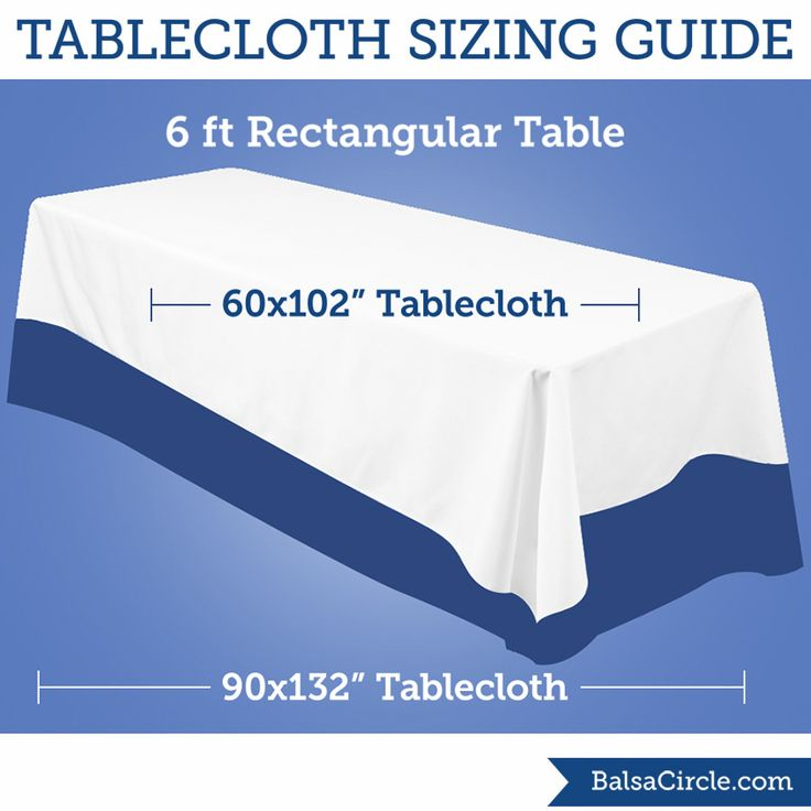 16 best images about linen sizing guides on pinterest for Table 6 3 gives the mean distance