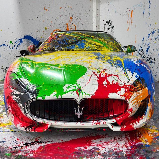 Splattered Maserati Granturismo Follow @wolf_millionaire for our GUIDES To GROW…