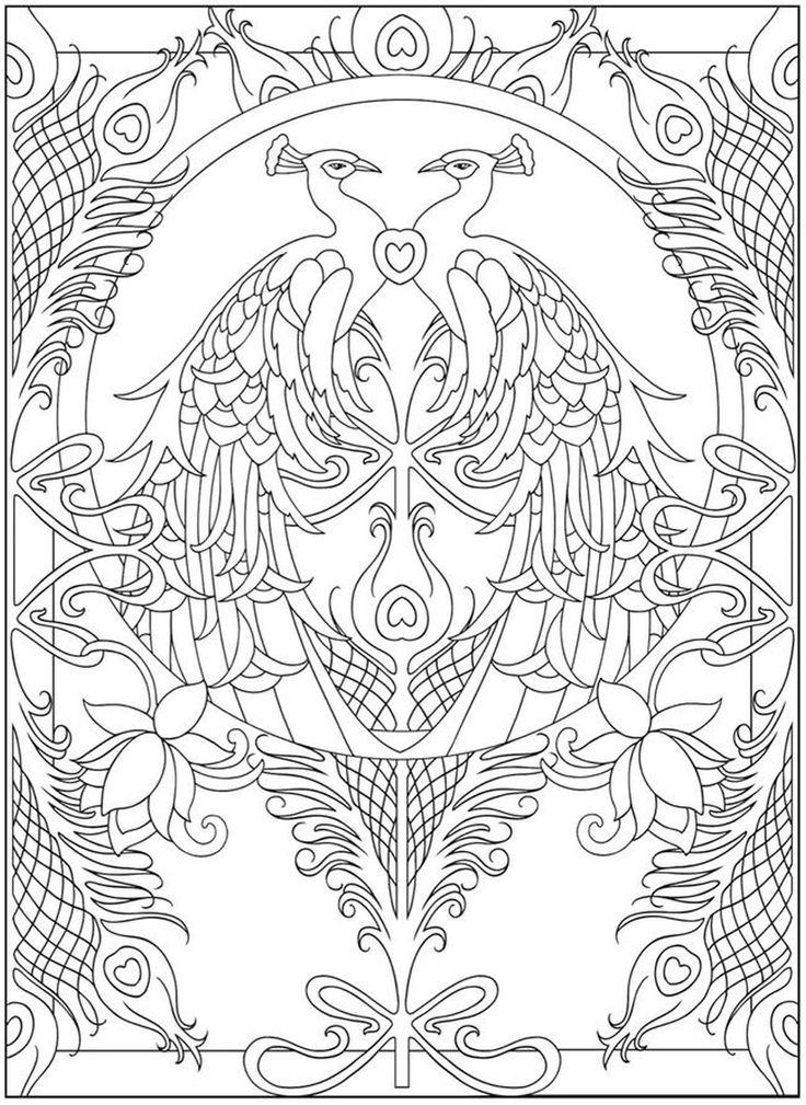 59 besten CBook: Peacock Designs Bilder auf Pinterest | Malbücher ...