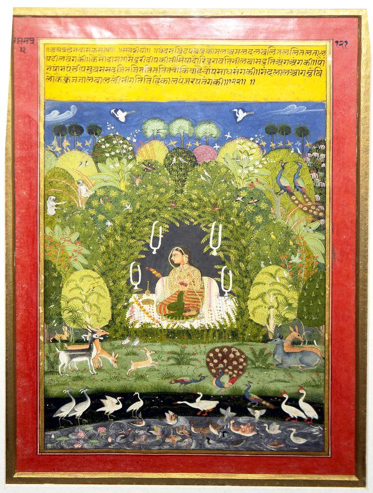 Vasakasajja Nayika (decorates her bed with flowers and
