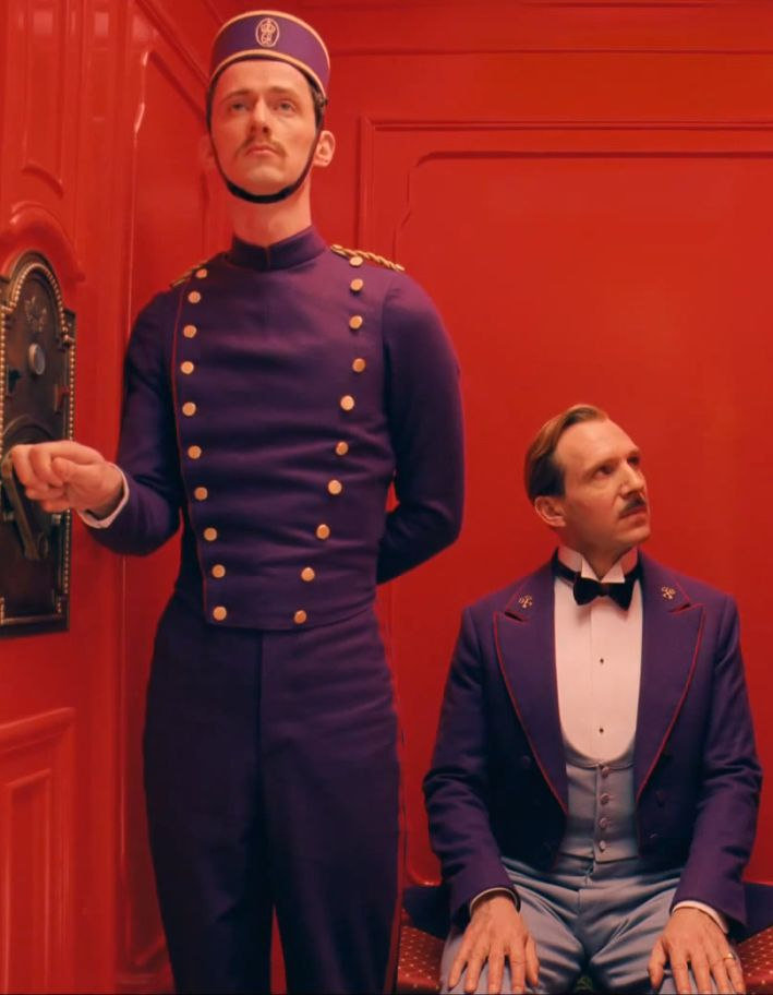 Ralph Fiennes in 'The Grand Budapest Hotel' by Wes Anderson. Costume Designer: Milena Canonero