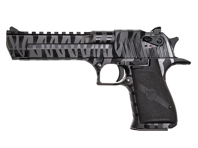 The new Black Tiger Stripe Desert Eagle is available in both .50 AE and .44 Magnum.