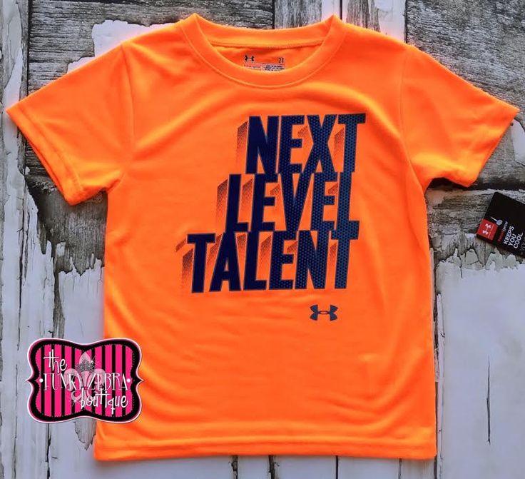 Under Armour Boys Next Level Talent Blaze Orange Top Size 2T-7
