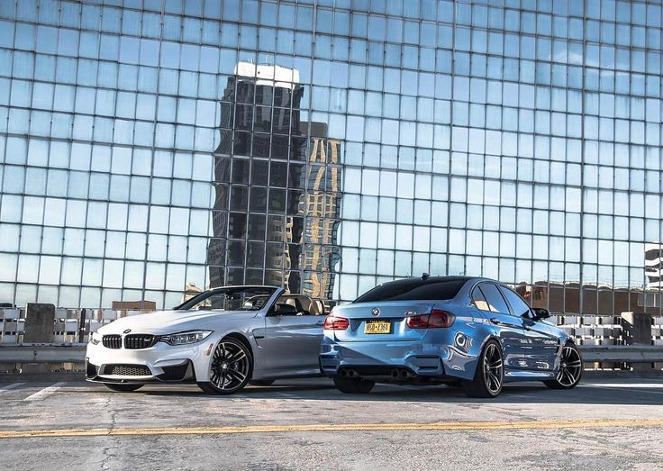 Limitless intensity meets the uncompromising icon.  The #BMW #M4 Convertible and #BMW #M3 Sedan.  #BMWrepost @philsags @hashtagm4 @seanovoxo  _____  Fuel consumption and CO2 emissions for the BMW M4 Convertible: Fuel consumption in l/100 km (combined): 9.1 - 8.7 CO2 emissions in g/km (combined): 213 - 203  Fuel consumption and CO2 emissions for the BMW M3 Sedan: Fuel consumption in l/100 km (combined): 8.8 - 8.3 CO2 emissions in g/km (combined): 204 - 194  Further information about the…