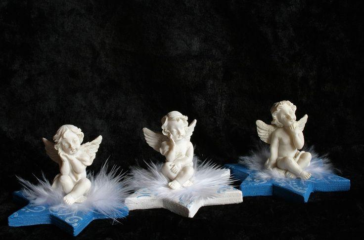 Angel, Dekoracyjne, Gwiazda, Wiosna, Niebieski