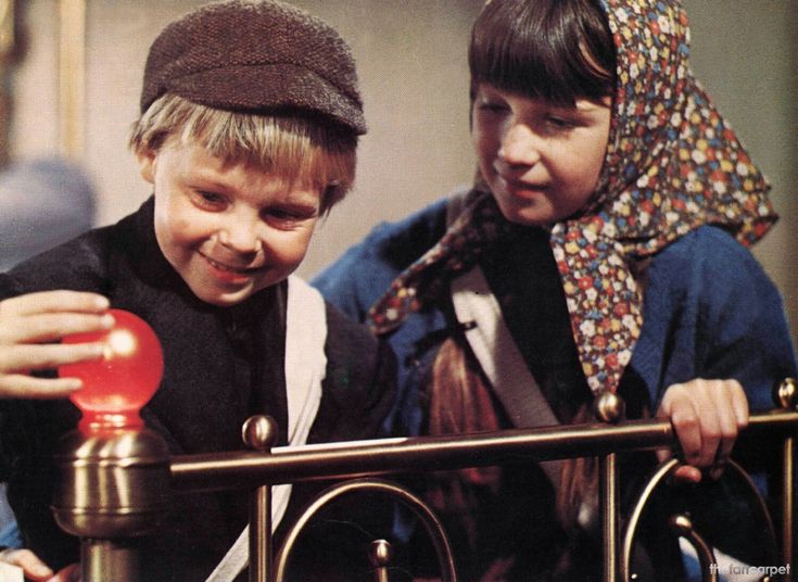 The knob! I used to pretend to do that with the knob on my bed when I was a kid. (Bedknobs and Broomsticks)
