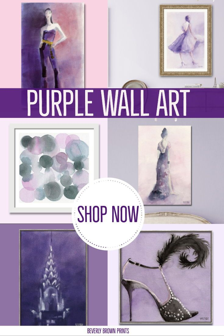 Purple Wall Art Canvas And Framed Painting Prints By Beverly Brown Abstract Fashion Still Life And Purple Wall Art Canvases Elegant Wall Art Purple Wall Art