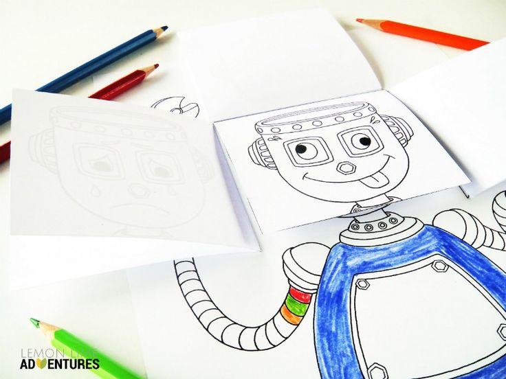 Emotional Robot Emotions Activity for Kids