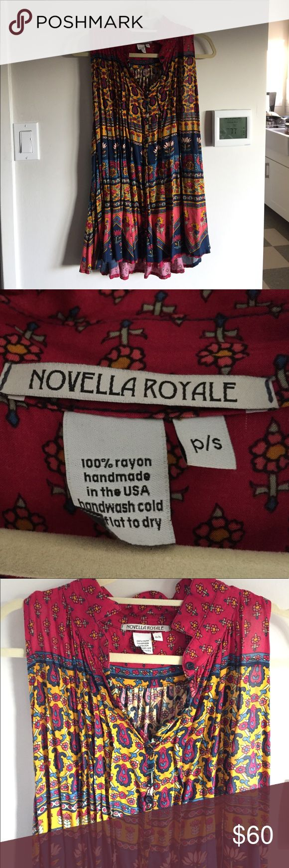 Novella Royale - Flowy Top - Small Worn twice and in perfect condition! No signs of wear and adorable boho top to wear with leggings or even as a beach cover up. Novella Royale Tops Blouses