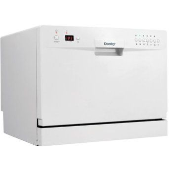 Energy Star countertop electronic dishwasher fits under most kitchen cabinets (6 place-setting capacity), Quick connect to any kitchen tap with low water consumption #myrrhshop #onlineshoppingnetwork #onlineshopping #onlineshop #dishwasher #buykitchenappliances #buyhomeappliances #DanbyDDW611WLED http://homeappliances.myrrhshop.com/product/danby-ddw611wled-countertop-dishwasher-white/